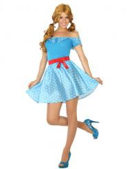 Blauw jaren 50 kostuum voor vrouwen