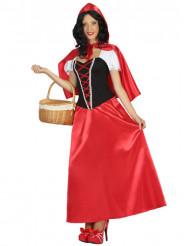 Lang Roodkapje kostuum voor vrouwen