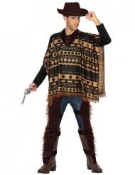 Cowboy poncho kostuum voor volwassenen