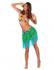 Hawaïaanse rok in groen met blauw voor volwassenen
