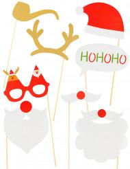 Photobooth set voor Kerst 8 stuks