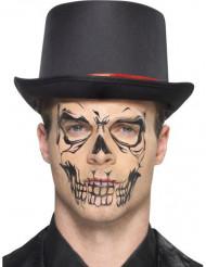 Zwart skelet nep tatoeage voor volwassenen