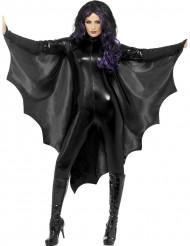 Zwarte vleermuis cape voor volwassenen