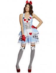 Miss kaartenkoningin kostuum voor vrouwen