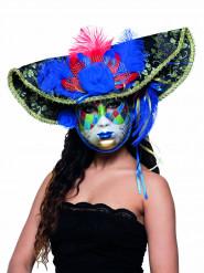 Kleurrijk Venetiaans piratenmasker voor volwassenen