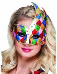 Venetiaans masker met ruiten voor volwassenen