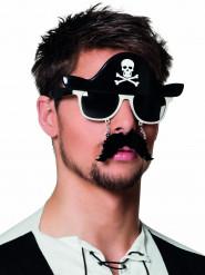 Piratenbril met snor voor volwassenen