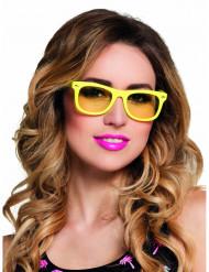 Gele jaren 50 bril voor volwassenen