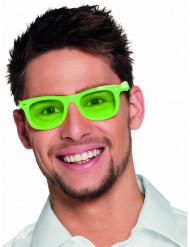 Fluo groene 50's bril voor volwassenen