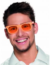 Fluo oranje jaren 50 bril voor volwassenen