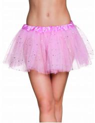 Roze glitter tutu voor vrouwen