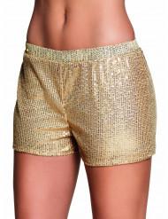 Goudkleurige short met lovertjes voor vrouwen