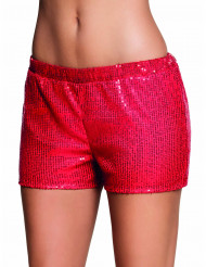 Rode short met lovertjes voor vrouwen