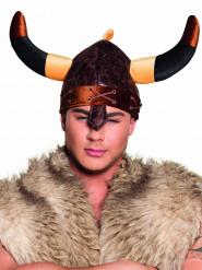 Bruine viking helm voor volwassenen