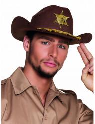 Bruine sheriff hoed voor volwassenen