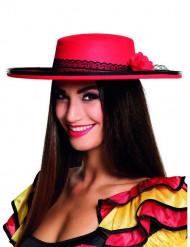 Rode Spaanse danseressen hoed voor vrouwen