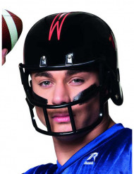 Zwarte American Football helm voor volwassenen