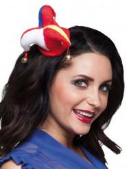 Mini clown hoedje voor volwassenen