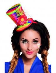 Mini clown hoge hoed voor volwassenen