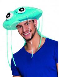 Blauwe pluche kwal hoed voor volwassenen
