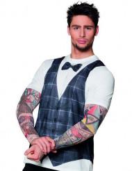 Hipster tattoo t-shirt voor mannen