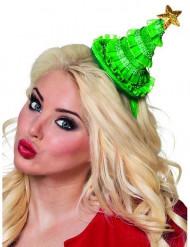 Mini kerstboom hoed voor vrouwen
