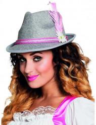 Roze Bavariaanse hoed voor dames
