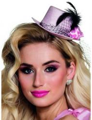 Roze mini hoedje jaren 20 voor vrouwen