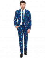 Blauw Opposuits™ kerstboom kostuum voor mannen