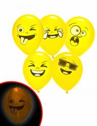 5 Illooms® Imoji™ LED ballonnen