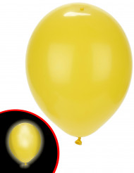 5 Gele LED ballonnen Illooms®
