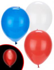 5 LED ballonnen Illooms® rood wit blauw