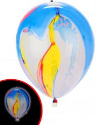 5 veel gekleurde LED ballonnen Illooms®