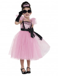 Roze diva kostuum voor meisjes
