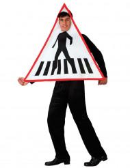 Verkeersbord kostuum van zebrapad voor volwassenen