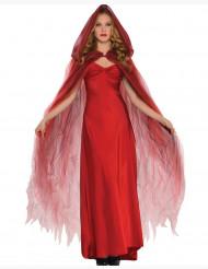Scharlaken rode cape van tule voor vrouwen