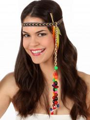 Hippie hoofdband met veren voor volwassenen