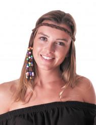 Hippie peace hoofdband voor volwassenen