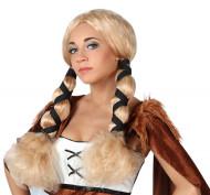Blonde viking pruik voor dames