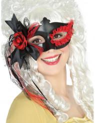 Zwart oogmasker met strik en kant voor dames