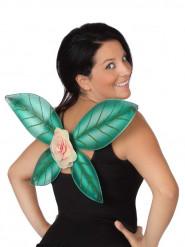 Groene feeënvleugels met bloem voor vrouwen