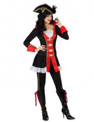 Admiraal piraat kostuum voor vrouwen