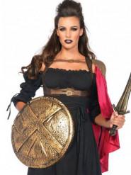 Rode Romeinse strijder cape voor vrouwen