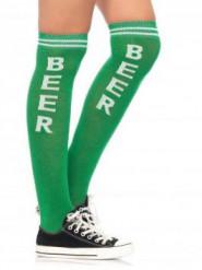 Lange groene bier sokken voor volwassenen
