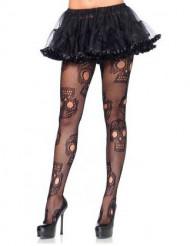 Dia de los Muertos doodskop legging voor vrouwen