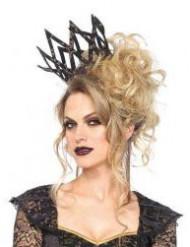 Zwart met gouden kroon voor vrouwen