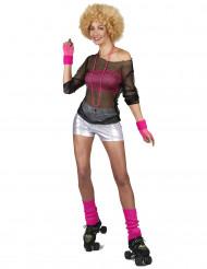 Zilverkleurige disco short voor dames