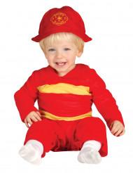 Rood brandweer kostuum voor baby's