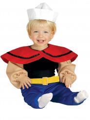 Gespierde matroos kostuum voor baby's