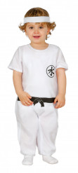 Witte ninja meester kostuum voor baby